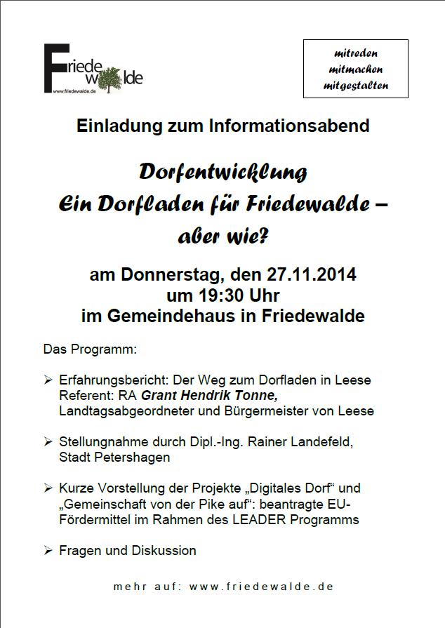 Einladung zum Informationsabend