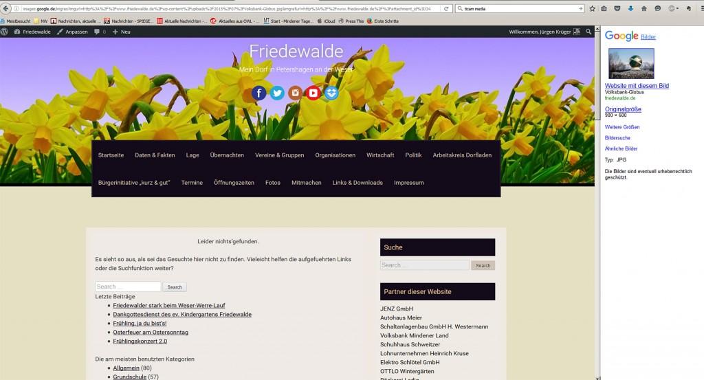 Screenshot Volksbank Globus
