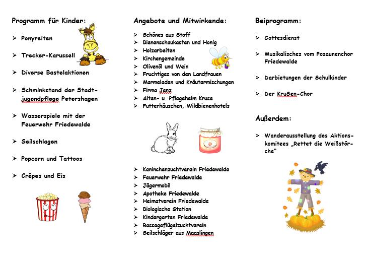 Herbstfest Friedewalde