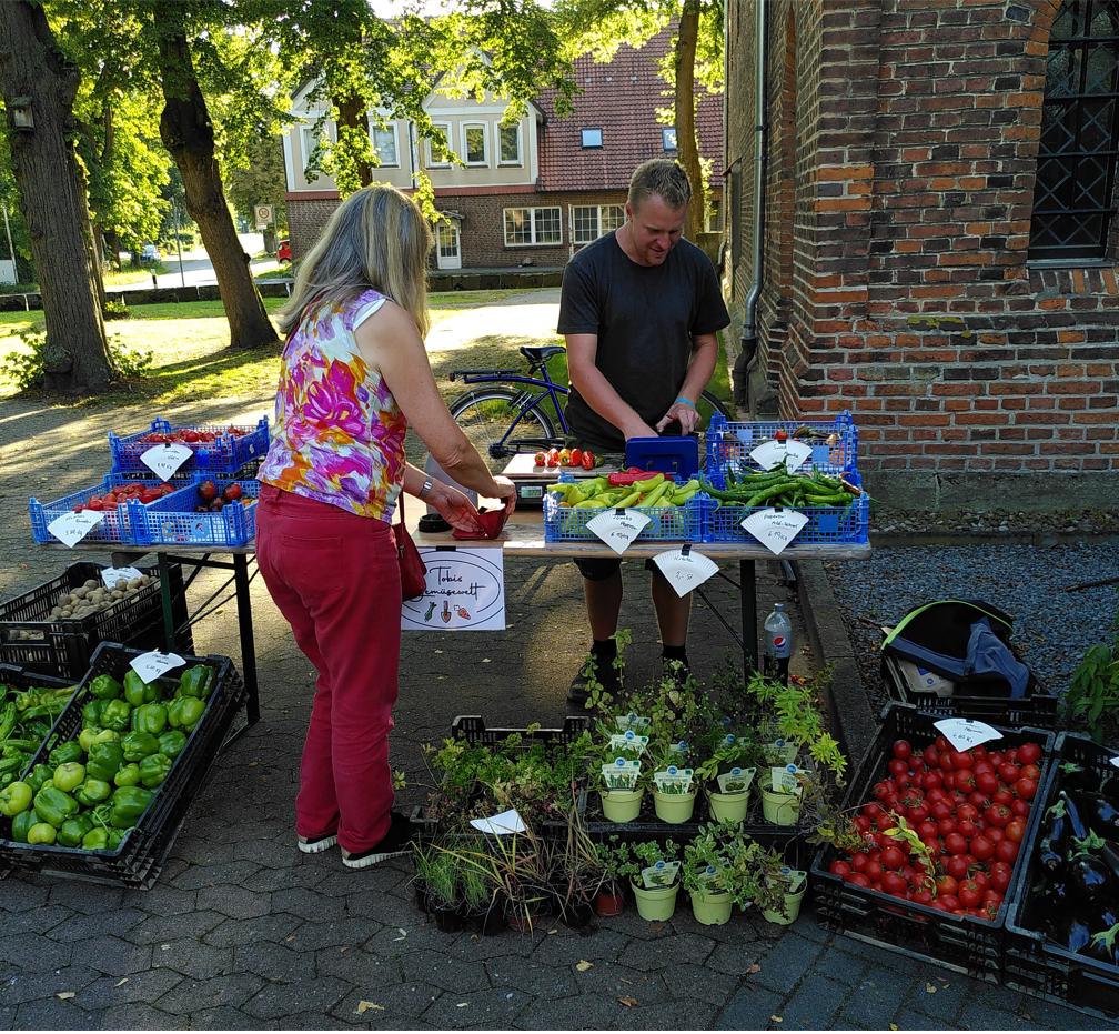 Erster Markttag für Tobis Gemüsewelt